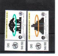 VV377 VEREINTE NATIONEN UNO GENF 1993 Michl 231/32 Mit TABS ** Postfrisch  ZÄHNUNG SIEHE ABBILDUNG - Ungebraucht