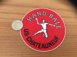 AUTOCOLLANT, Sticker «HAND-BALL - US CHATEAUNEUF (29) » - Autocollants