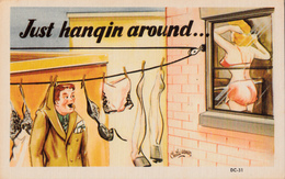 Comics Humor Comic Comique Humour - Man Hangin Around... Sexy Lady - No. DC-31 - 2 Scans - Humour