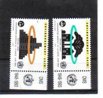 VV378 VEREINTE NATIONEN UNO GENF 1993 Michl 231/32 Mit TABS ** Postfrisch  ZÄHNUNG SIEHE ABBILDUNG - Ungebraucht