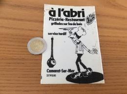AUTOCOLLANT, Sticker Tissu «à L'abri - Pizzéria Restaurant - CAMARET-SUR-MER (29) » - Autocollants