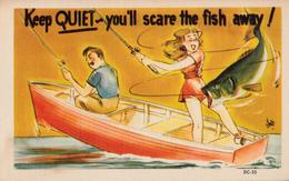 Comics Humor Comic Comique Humour - Sexy Lady Fishing Fish - No. DC-55 - 2 Scans - Humour
