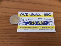 AUTOCOLLANT, Sticker «L'AN-VIE - Café Snack Jeux - BREST (29) » - Autocollants