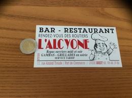 AUTOCOLLANT, Sticker «L'ALCYONE - BAR RESTAURANT - BREST (29) » - Autocollants