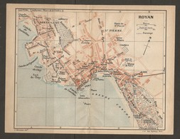 CARTE PLAN 1923 - ROYAN CONCHE DE PONTAILLAC PHARE LE CHAY TENNIS TIR AUX PIGEONS CASINO - Cartes Topographiques
