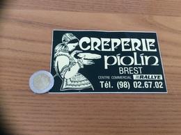 AUTOCOLLANT, Sticker «CRÊPERIE PIOLIN - BREST (29) » (bretonne) - Autocollants
