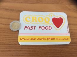 AUTOCOLLANT, Sticker * «CROQ FAST FOOD - BREST (29) » (cœur) - Autocollants