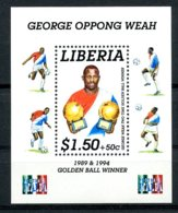 Liberia, 1995, Soccer, Football, Golden Ball, George Weah, MNH, Michel Block 141 - Liberia