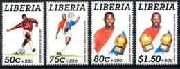 Liberia, 1995, Soccer, Football, Golden Ball, George Weah, MNH, Michel 1639-1642A - Liberia