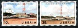 Liberia, 1990, Earth Satellite Station, Telecommunication, MNH, Michel 1467-1468 - Liberia