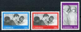 Liberia, 1989, Second Republic, President Doe, Doctor, Haelth Care, MNH, Michel 1439-1441 - Liberia