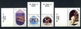 Liberia, 1989, Space, Apollo 11, Moon Landing, Astronauts, MNH Tab, Michel 1456-1459 - Liberia