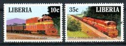 Liberia, 1988, Locomotives, Trains, Railroads, MNH, Michel 1414-1415 - Liberia