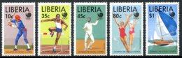Liberia, 1988, Olympic Summer Games Seoul, Baseball, Fencing, Swimming, Sailing, MNH, Michel 1424-1428 - Liberia