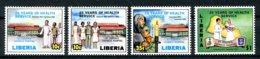 Liberia, 1988, St Joseph Hospital, Medical Care, Health Care, MNH, Michel 1420-1423 - Liberia