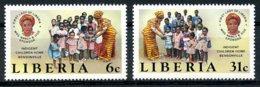 Liberia, 1984, Children's Home Bensonville, Child Care, MNH, Michel 1319-1320 - Liberia