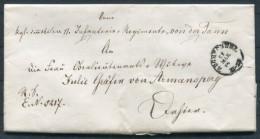 1871 Bayern Ortsbrief Infanterie Regiment Von Der Tann An Gräfin Von Armansperg - Bavaria