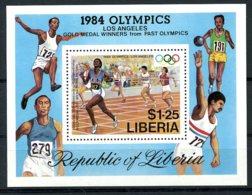 Liberia, 1984, Olympic Summer Games Los Angeles, Sports, Athletics, Running, MNH, Michel Block 108 - Liberia