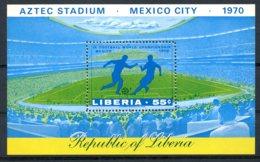 Liberia, 1970, Soccer World Cup Mexico, Football, Aztec Stadium, MNH, Michel Block 49A - Liberia