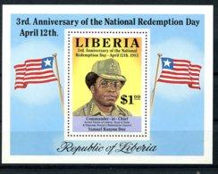 Liberia, 1983, Revolution, Redemption Day, Flags, MNH, Michel Block 104 - Liberia