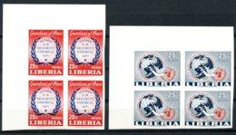 Liberia, 1961, United Nations Security Council, MNH Imperforated Margin Blocks, Michel 561-562B - Liberia