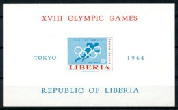 Liberia, 1964, Olympic Summer Games Tokyo, Sports, MNH Imperforated, Michel Block 31B - Liberia