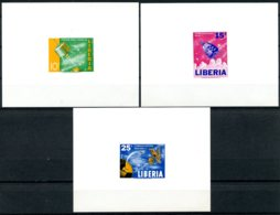 Liberia, 1964, Space Exploration, MNH Imperforated Deluxe Sheets, Michel 619-621B - Liberia