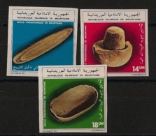 Mauritanie - 1983 - N°Yv. 532 à 534 - Outils Préhistoriques - Non Dentelés / Imperf. - Neuf Luxe ** / MNH / Postfrisch - Mauritanië (1960-...)