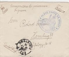 France Lettre Prisonnier De Guerre Brest Pour L'Allemagne 1915 - Marcophilie (Lettres)
