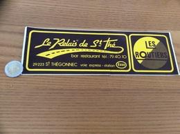AUTOCOLLANT, Sticker «Le Relais De St Thé - Bar Restaurant LES ROUTIERS - ST THÉGONNEC (29) » - Autocollants