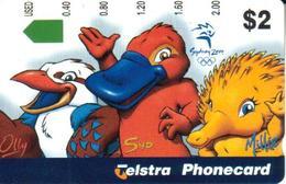 AUSTRALIA $2  SYDNEY 2000 OLYMPIC MASCOTS  ECHIDNA PLATYPUS ANIMAL  CARTOON   AUS - 567 READ DECRIPTION !! - Australie