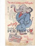 BUVARD Tissus Per Imper  ( éléphant Humanisé ) - Textile & Clothing