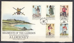 First Day Cover Van Guernsey Post Office First Day Of Issue 24/9/1985 - Alderney