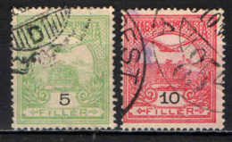 UNGHERIA - 1904 - UCCELLO TURUL E CORONA DI SANTO STEFANO - FIL. B - USATI - Ungheria