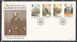 First Day Cover Van Guernsey Post Office First Day Of Issue 23/9/1986 - Alderney