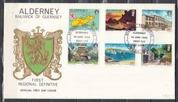 First Day Cover Van First Regional Definitive 30th Signal Regiment 14 June 1983 - Alderney