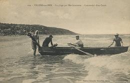 Lancement D' Un Canot à Villers Sur Mer - Barche