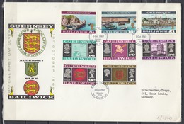 First Day Cover Van Guernsey Post Office First Day Of Issue Philatelic Bureau 1 OCT 1969 - Guernesey