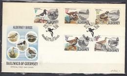 First Day Cover Van First Day Of Issue Alderney Birds 12 Juni 1984 - Alderney