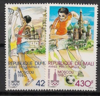 Mali - 1979 - Poste Aérienne PA N°Yv. 360 à 361 - Olympics / Moscou 80 - Neuf Luxe ** / MNH / Postfrisch - Mali (1959-...)