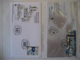 Vereinte Nationen Wien 2003- FDC Zusammendruck Int. Süsswasserjahr ANK 394-395, Dauerserie ANK 406 - FDC