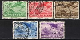 UNGHERIA - 1936 - AEREI FOKKER IN VOLO - USATI - Posta Aerea