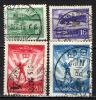 UNGHERIA - 1933 - AEREI E IMMAGINI SIMBOLICHE DEL VOLO - USATI - Posta Aerea