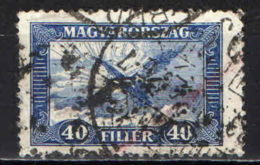 "UNGHERIA - 1927 - UCCELLO ""TURUL"" - USATO - Posta Aerea"