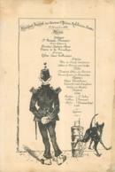 Nantes, Banquet Des Anciens Officiers Mobilisés, Menu Illustré De Novembre 1884, Chien Qui Urine... - Menus