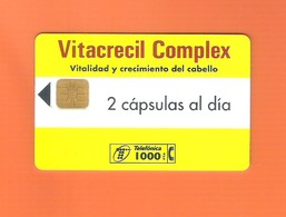 "CHIPCARD SPAIN P116  ""VITACRECIL -I""  03/95 - EX: 10000 - USED - Emissions Privées"