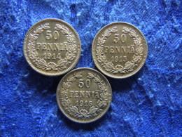 FINLAND 50 PENNIA 1914-1916, KM2.2 - Finnland
