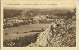 Panorama De Bomal à La Jonction Des Vallées De L' Ourthe Et De L' Aisne .      (2 Scans) - Durbuy