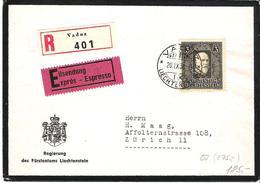 Liechtenstein 1938: Trauermarke Fürst Franz (1853-1938) Zu 142 Mi 171 Yv 153 Mit O VADUZ 20.IX.38 (Zumstein CHF 300.00) - Briefe U. Dokumente