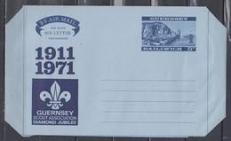 Air Mail Aerogramme Guernsey Scout Association Diamond Jubilee - Guernesey